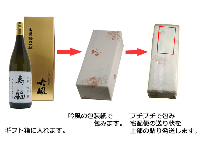 花束ラッピング・ラベル酒、包装、発送方法